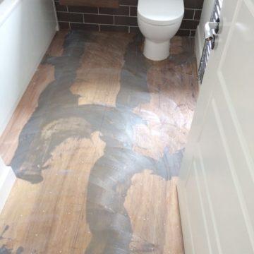 Karndean flooring before picture