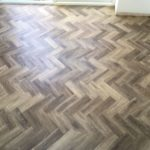 Parquet herringbone wood effect vinyl tile