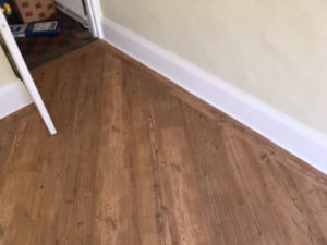 mid worn oak effect vinyl tile flooring