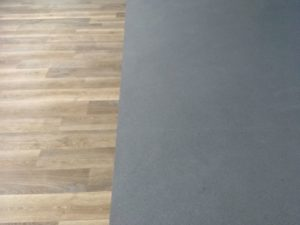 Safety vinyl meets wood effect vinyl tile