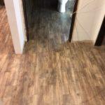 Rustic wood effect vinyl tile flooring
