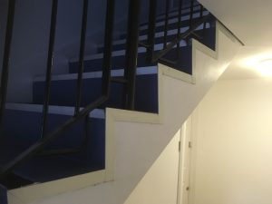 commercial stairs with new nosings and trims