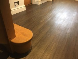 Dark oak effect vinyl tile