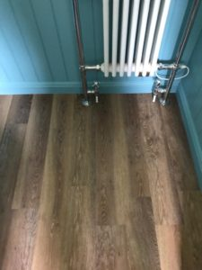 Karndean wood effect flooring in bathroo,