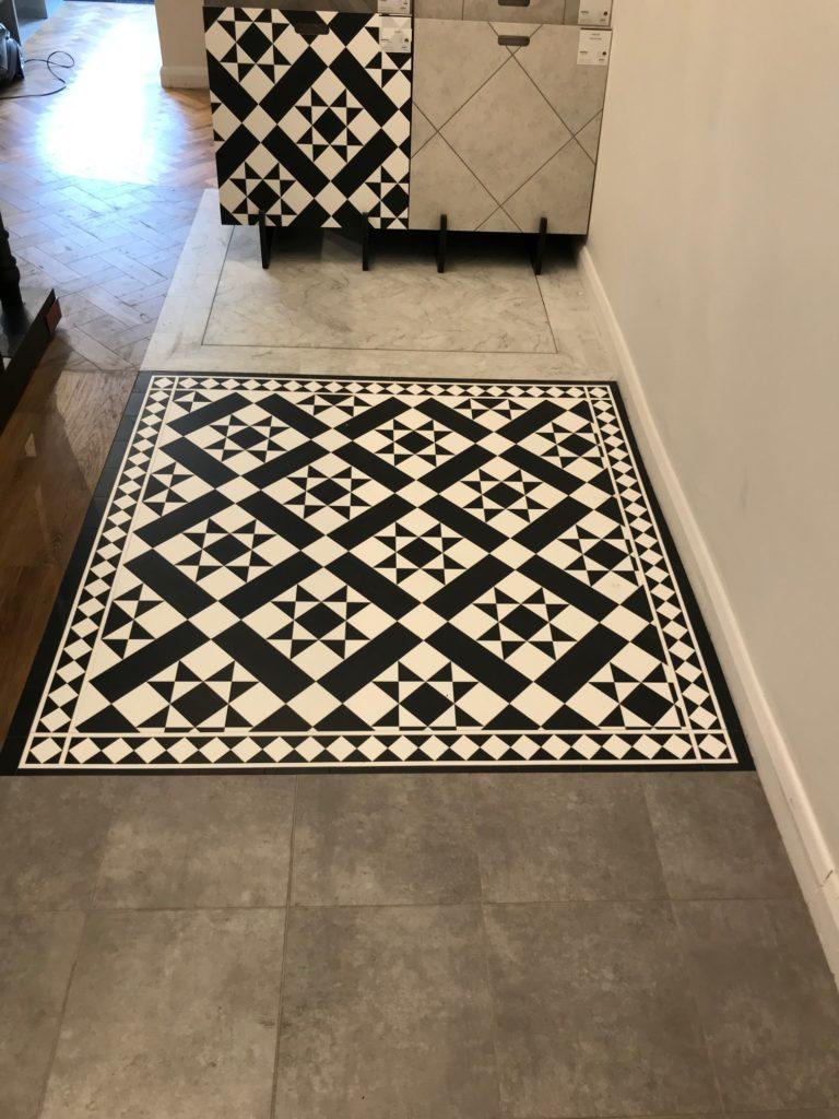 Amtio Decor luxury vinyl tile black and white