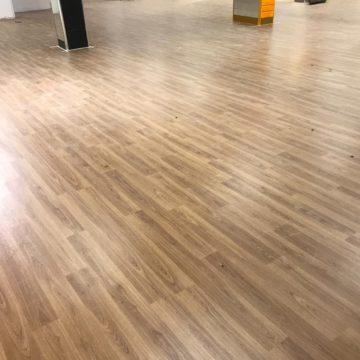 Pilgrims Hospice new Margate Shop new flooring wood effect mid oak